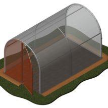 Suplemento de puerta para el modelo de invernadero de 6,80m2