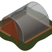 suplemento de puerta de entrada para el modelo de invernadero de jardín de 10,20m2